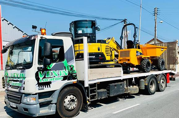 Livraison de matériel et d'engins de travaux publics
